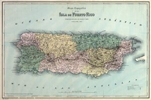 Old Map of Puerto Rico