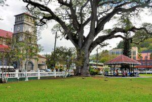 Derek Walcott Square in St. Lucia