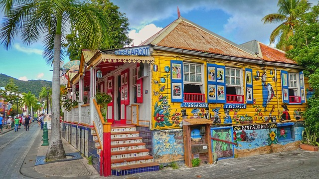 Colourful house in St. Maarten
