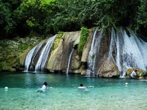 Irie Blue Hole in Jamaica