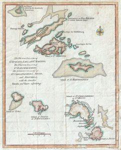 1781_Lodge_Map_of_St._Bart_Anguilla_St._Martins_Leeward_Islands_West_Indies