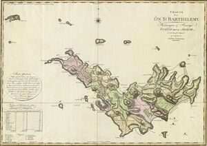 Old Map of St. Barthelemy