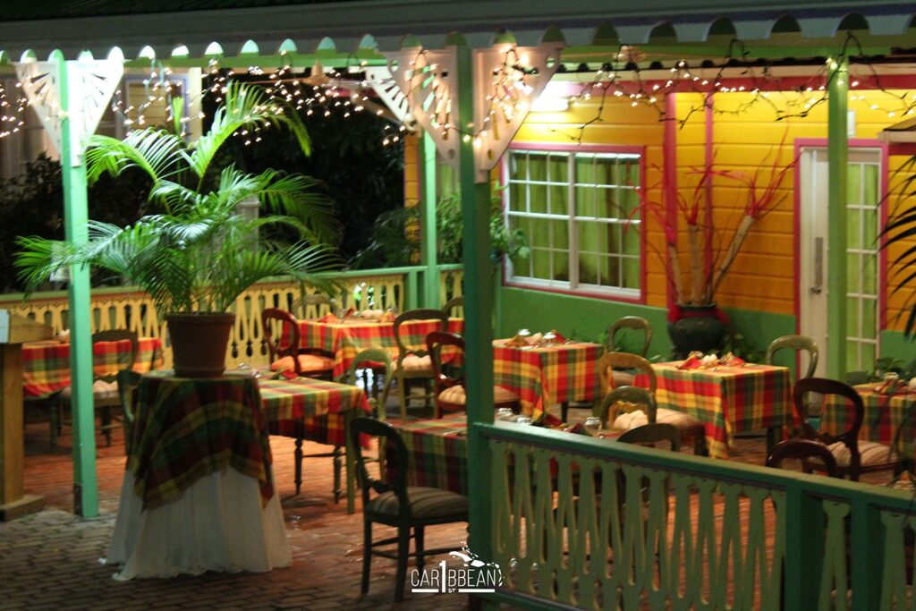 Creole theme restaurant at the St. Lucia Food & Rum Festival